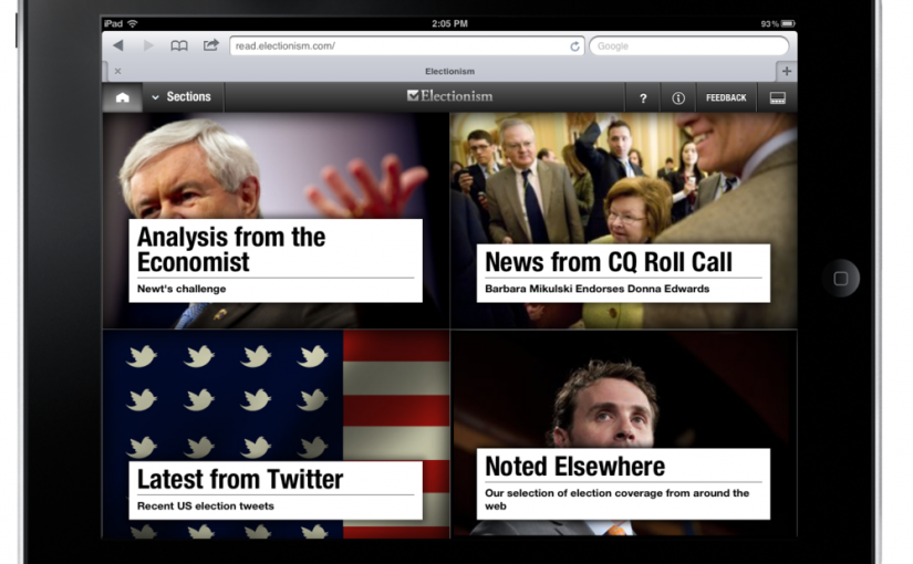 Pressly Launches Electionism, A Tablet-Only HTML5 News Publication | TechCrunch