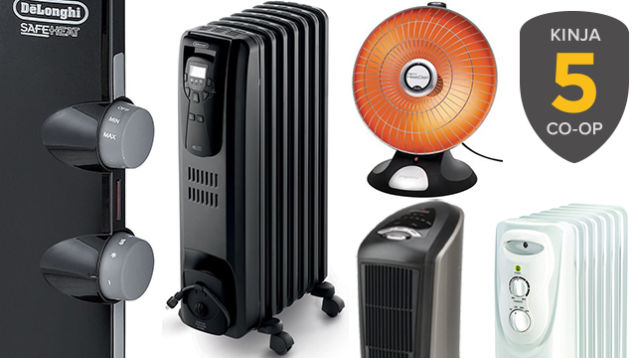 Five Best Space Heaters